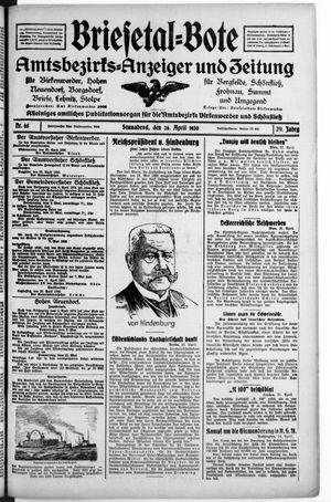 Briesetal-Bote vom 26.04.1930