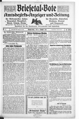 Briesetal-Bote vom 01.01.1931