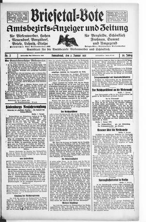 Briesetal-Bote vom 03.01.1931