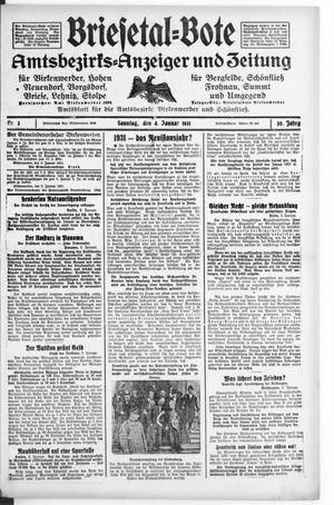 Briesetal-Bote vom 04.01.1931