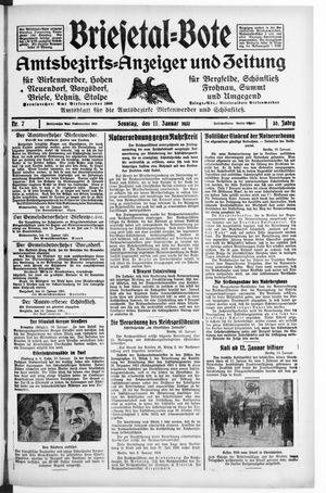 Briesetal-Bote vom 11.01.1931