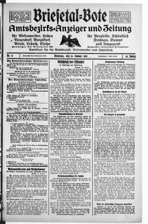 Briesetal-Bote vom 13.01.1931