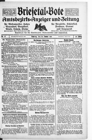 Briesetal-Bote vom 18.01.1931