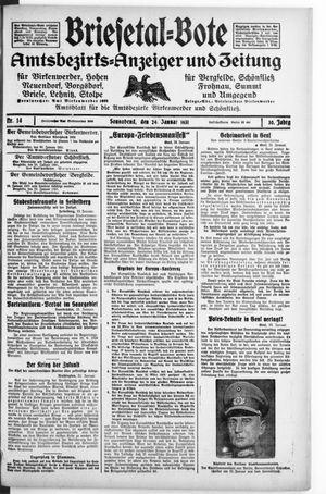 Briesetal-Bote vom 24.01.1931