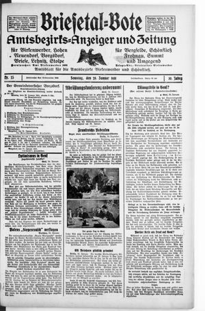 Briesetal-Bote on Jan 25, 1931