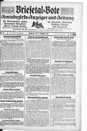 Briesetal-Bote vom 01.02.1931