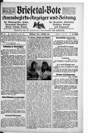 Briesetal-Bote vom 03.02.1931