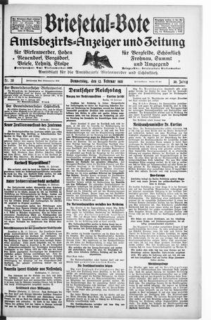 Briesetal-Bote vom 12.02.1931