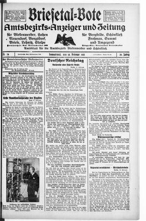 Briesetal-Bote vom 14.02.1931