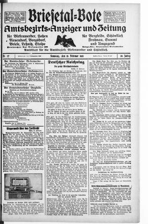 Briesetal-Bote vom 15.02.1931