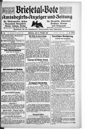 Briesetal-Bote vom 17.02.1931
