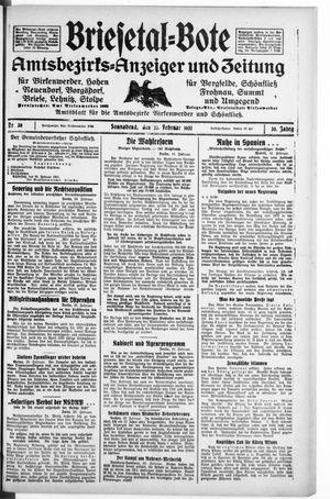 Briesetal-Bote vom 21.02.1931