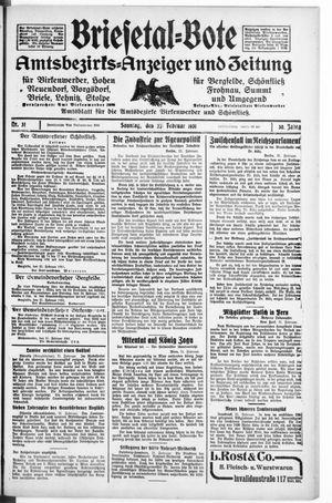 Briesetal-Bote on Feb 22, 1931