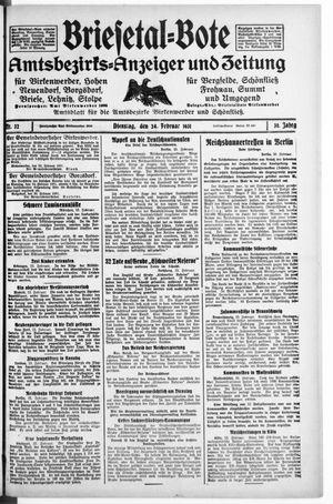 Briesetal-Bote vom 24.02.1931