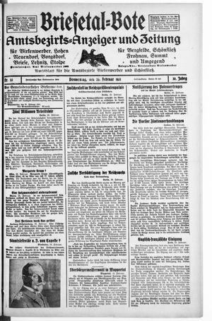 Briesetal-Bote on Feb 26, 1931
