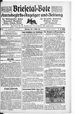 Briesetal-Bote on Mar 3, 1931