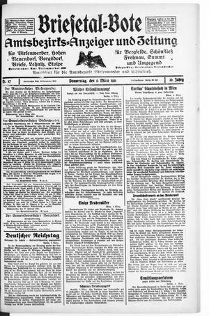 Briesetal-Bote vom 05.03.1931