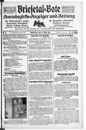 Briesetal-Bote vom 12.03.1931