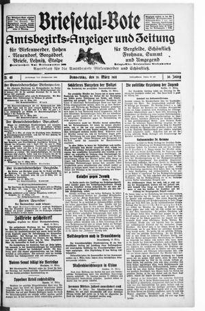 Briesetal-Bote vom 19.03.1931