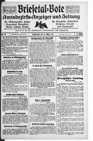Briesetal-Bote vom 21.03.1931