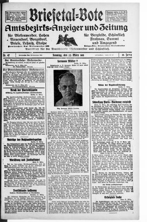 Briesetal-Bote vom 22.03.1931