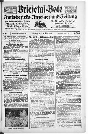 Briesetal-Bote vom 24.03.1931