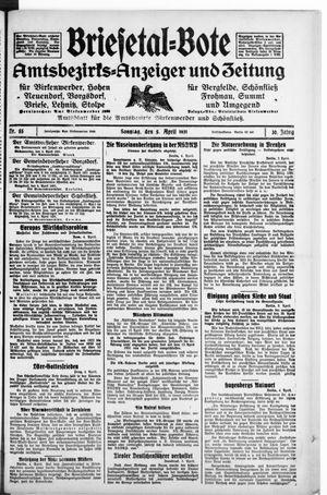 Briesetal-Bote vom 05.04.1931
