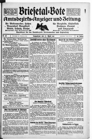 Briesetal-Bote vom 11.04.1931
