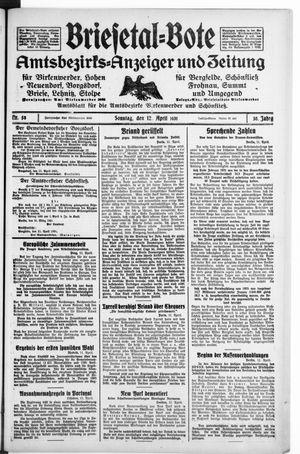 Briesetal-Bote vom 12.04.1931
