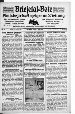 Briesetal-Bote vom 18.04.1931