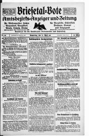 Briesetal-Bote vom 23.04.1931