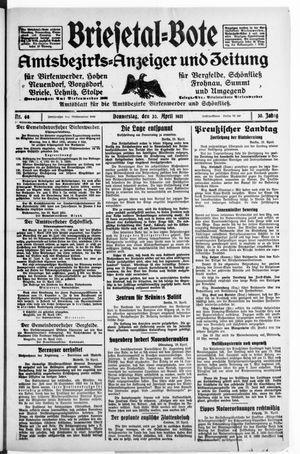 Briesetal-Bote vom 30.04.1931