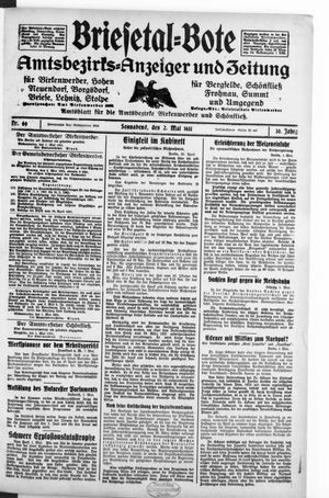 Briesetal-Bote vom 02.05.1931