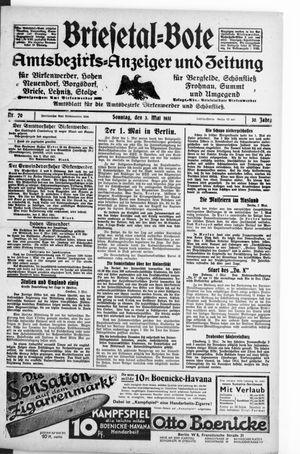 Briesetal-Bote on May 3, 1931