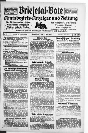 Briesetal-Bote vom 07.05.1931