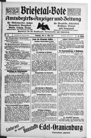 Briesetal-Bote vom 10.05.1931
