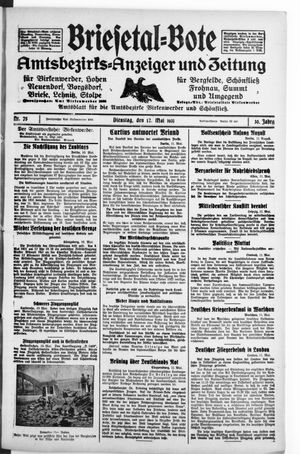 Briesetal-Bote vom 12.05.1931