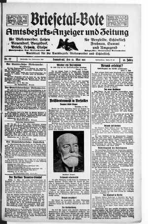Briesetal-Bote vom 16.05.1931