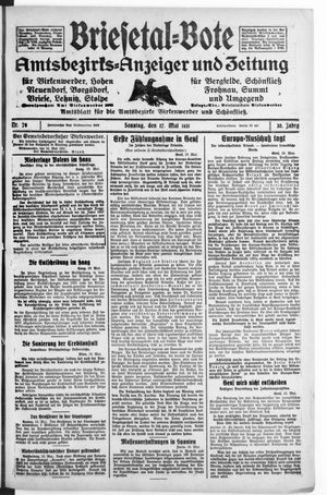 Briesetal-Bote vom 17.05.1931