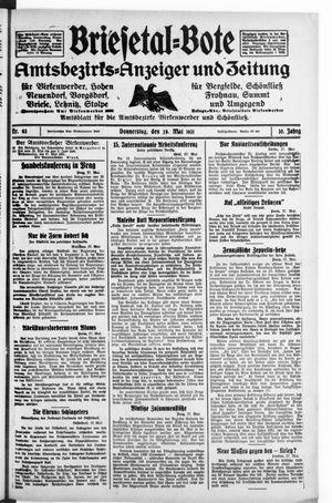 Briesetal-Bote vom 28.05.1931