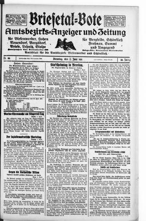 Briesetal-Bote vom 02.06.1931