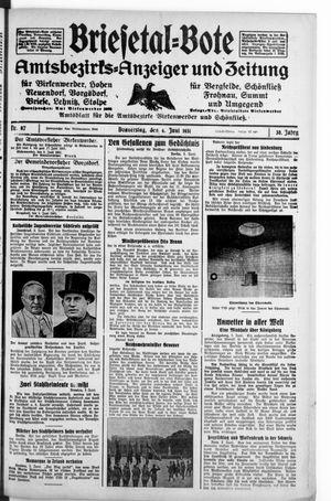 Briesetal-Bote vom 04.06.1931