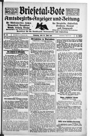 Briesetal-Bote vom 16.06.1931