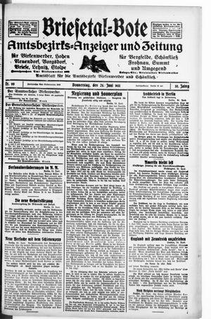 Briesetal-Bote vom 25.06.1931