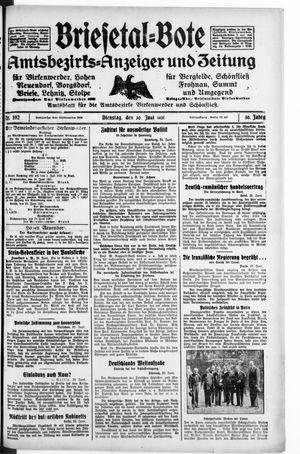 Briesetal-Bote vom 30.06.1931