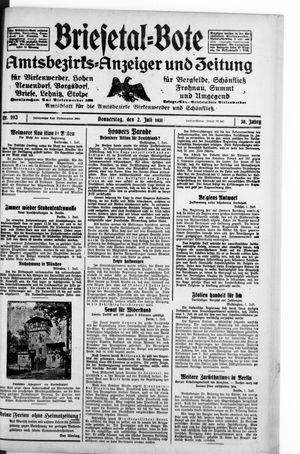 Briesetal-Bote vom 02.07.1931