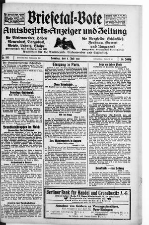 Briesetal-Bote vom 05.07.1931