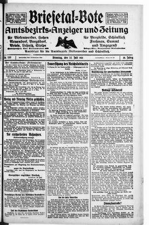 Briesetal-Bote vom 14.07.1931