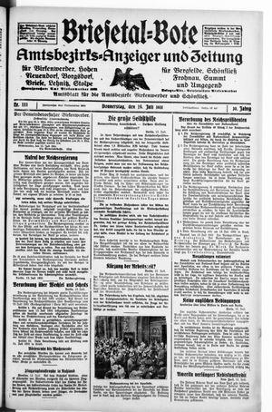 Briesetal-Bote vom 16.07.1931