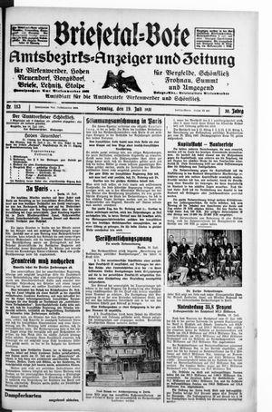 Briesetal-Bote vom 19.07.1931